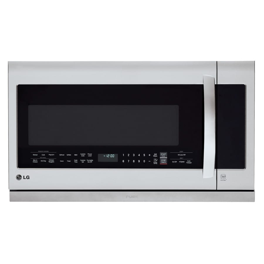 Lowes Lg 2 Cu Ft Over The Range Microwave With Sensor Cooking Controls