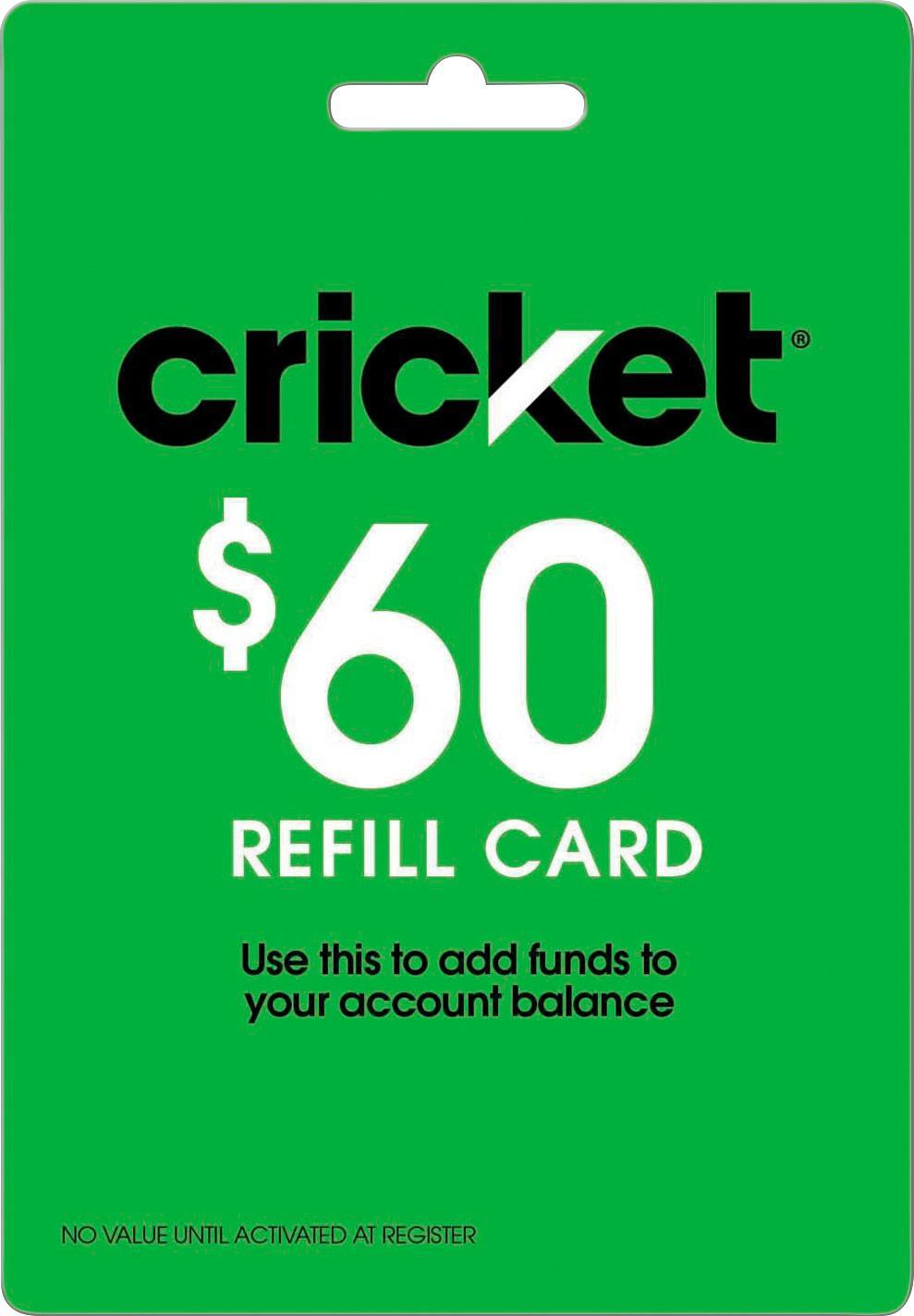 $60 Cricket Refill Card + Cricket SIM + Nokia 3310 3G for $58