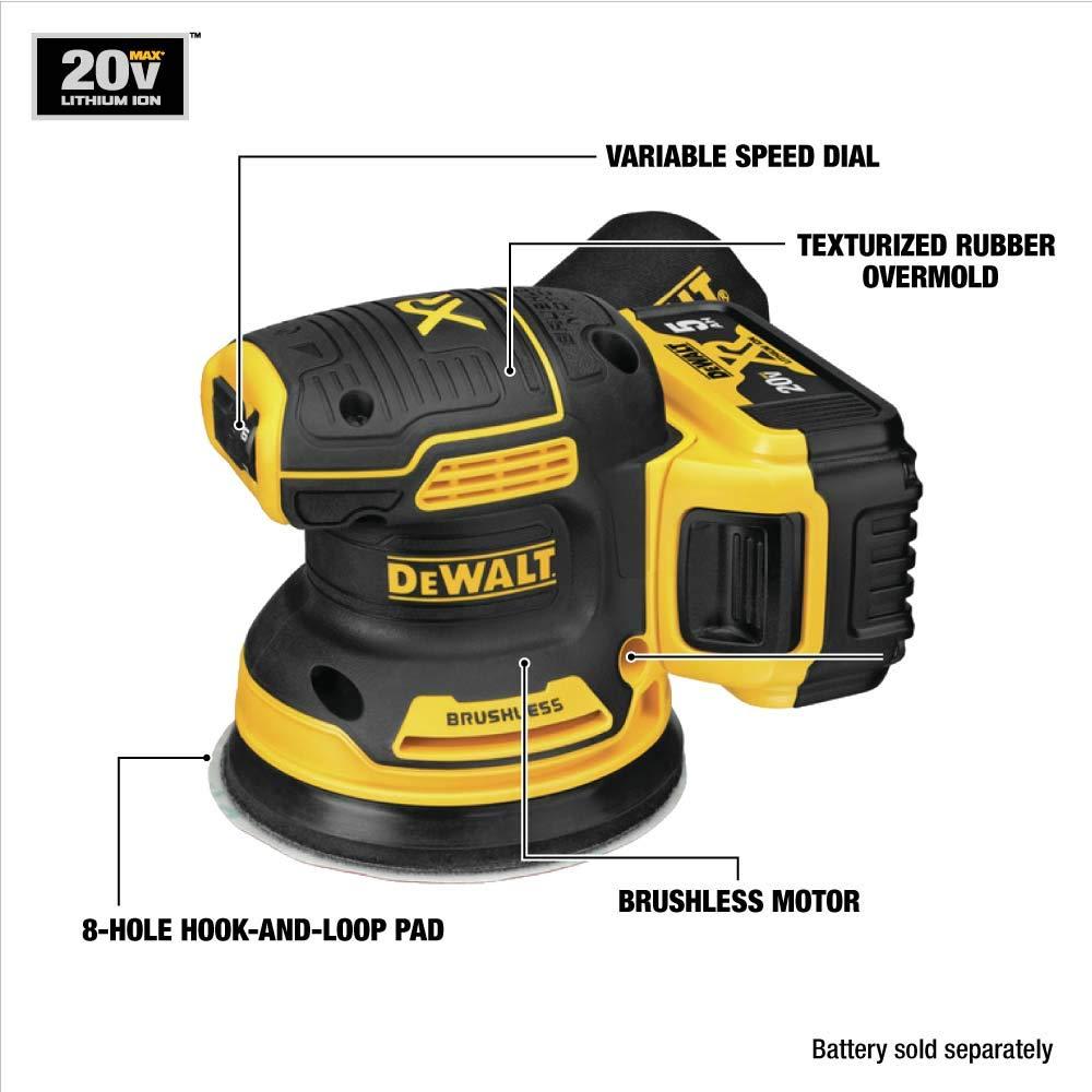 DEWALT DCW210B 20V MAX Brushless Orbital Sander (Tool Only) $94.98