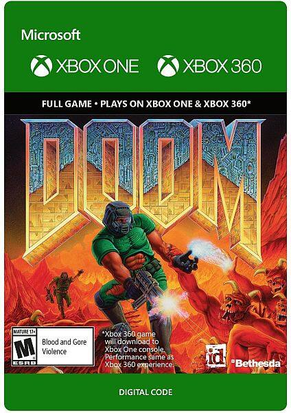 Doom / Doom II - Xbox One [Digital Code] $4.99 Each