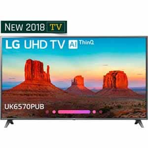 "LG 75"" UK6570PUB Series 4K HDR Smart LED AI UHD TV with ThinQ For $1099.00 with email promo code"
