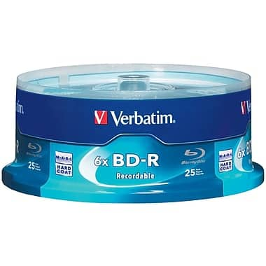 Verbatim VTM97457 25 GB BD-R Spindle, 25/Pack $8.99 + shipping (free if ship to store or w/ $50 purchase) + tax at Staples