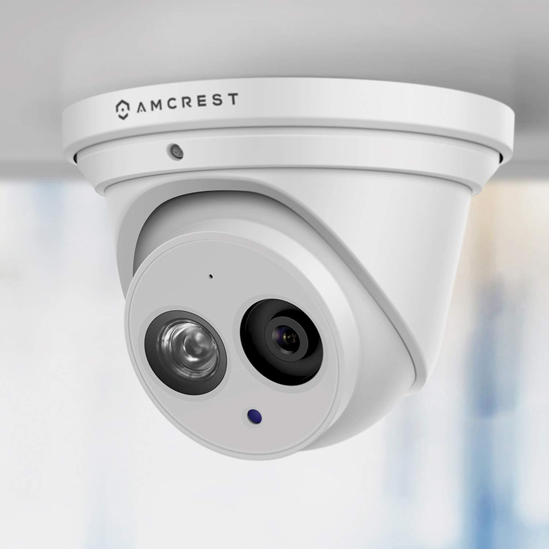 Amcrest UltraHD 4K (8MP) Outdoor Security IP Turret PoE Camera, 3840x2160, 164ft NightVision, 2.8mm Lens, IP67 Weatherproof, MicroSD Recording (128GB), White (IP8M-T2499EW) $89.92