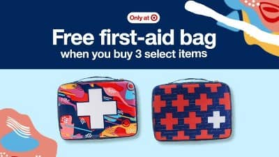 Free Band Aid bag when you build your own kit and buy 3 items $4.74