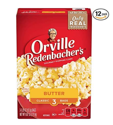 Orville Redenbacher's Butter Popcorn, Classic Bag, 3-Count (Pack of 12) - $6.55 S&S FS