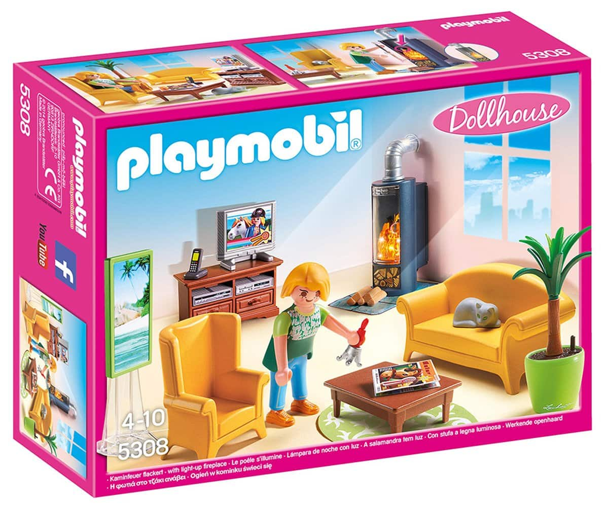 PLAYMOBIL Living Room with Fireplace - $9.99 FS