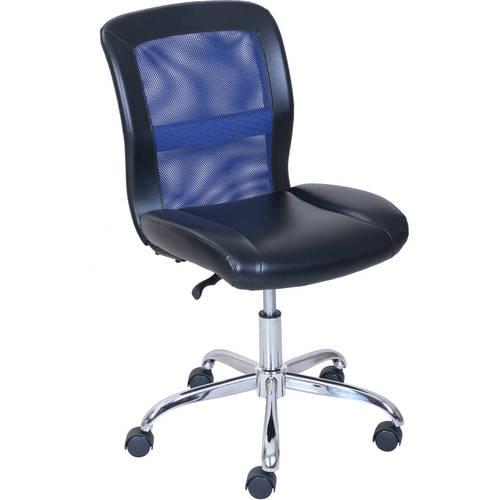 Mainstays Vinyl and Mesh Task Office Chair, Blue/Black $26.23