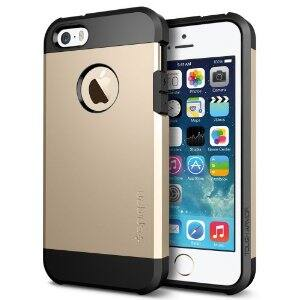 Spigen SGP10584 Tough Armor Case for iPhone 5/5S - Carrying Case - Retail Packaging - Champagne Gold : $14.50
