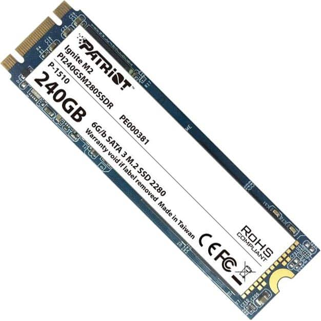 240GB Patriot Ignite M.2 Solid State Drive : $59 AR