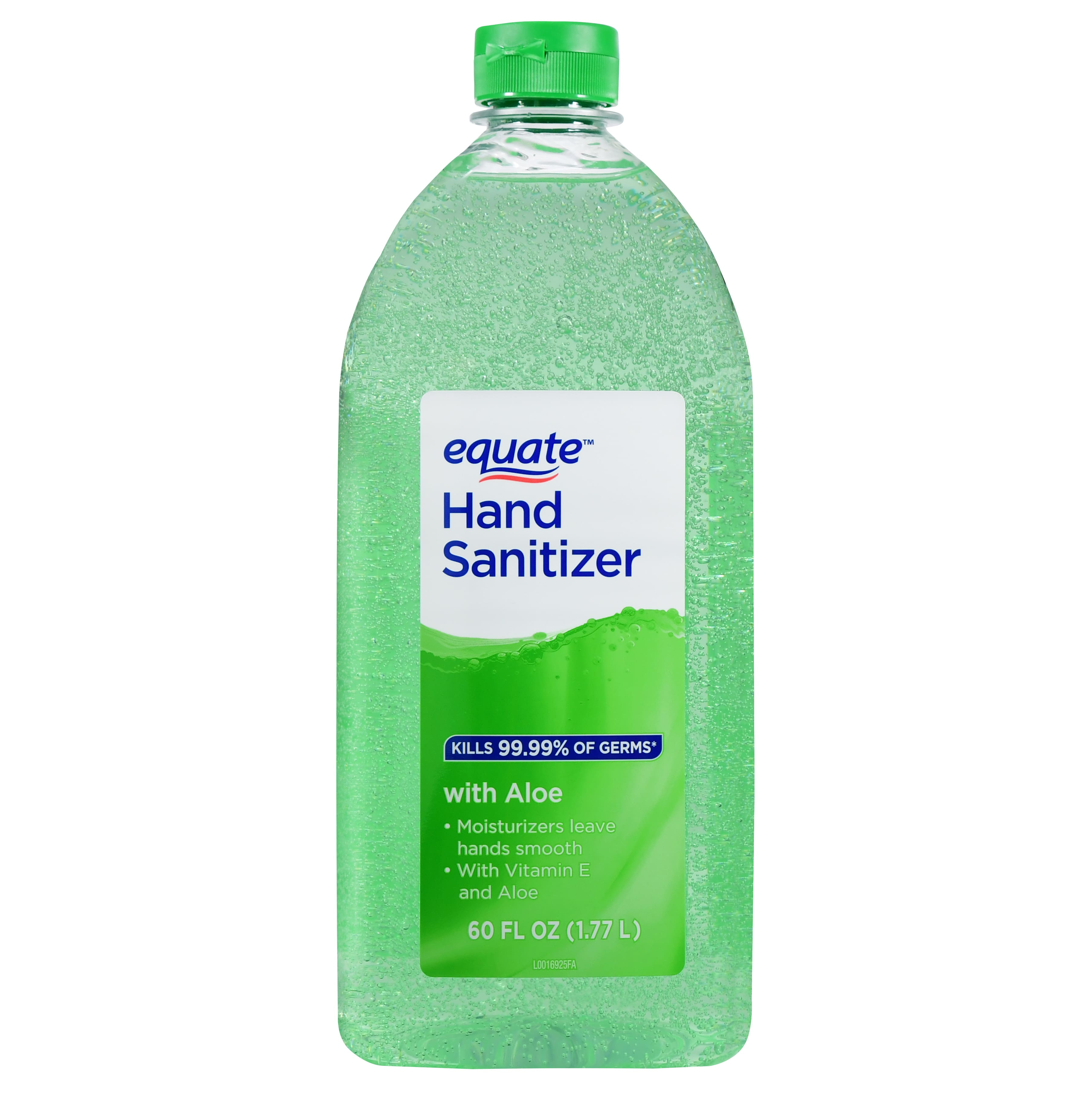 Equate Hand Sanitizer with Aloe, 60 fl oz $5.97+FS