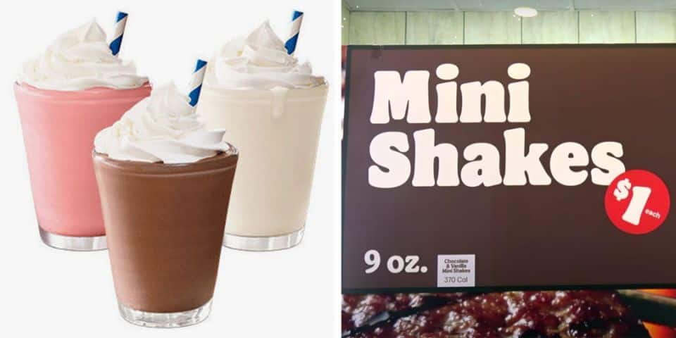 Burger King :New! $1 Mini Shakes
