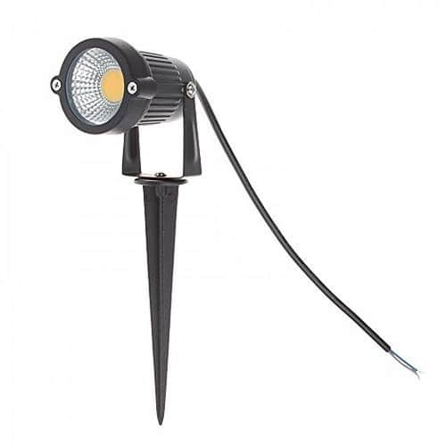 Lemonbest® High Power Outdoor Decorative Lamp Lighting 5W COB LED Landscape Garden Wall Yard Path Light Warm Cool White DC 12V w/ Spiked Stand, Pack of 2  $17.96