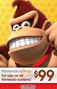 Nintendo $99 eShop Card for $88.99