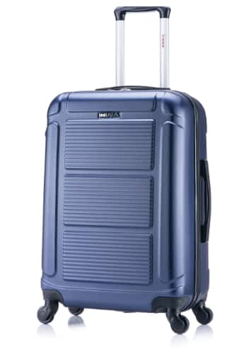 """InUSA Pilot 24"""" Hardside Spinner Suitcase - Navy Blue $41.99 (Free Shipping)"""