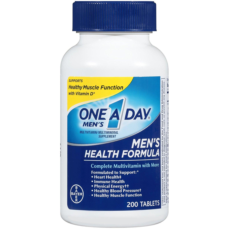 One A Day Men's Health Formula Multivitamin, 200 Count $9.92