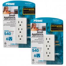 2pk Surge Protectors By Globe – 6 Swiveling Outlets, 2 USB Ports $24.99 w/ FS @ DealGenius