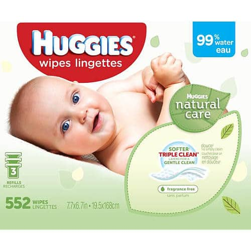 Huggies Natural Care Unscented Baby Wipes Refill - 552 Count $8.55