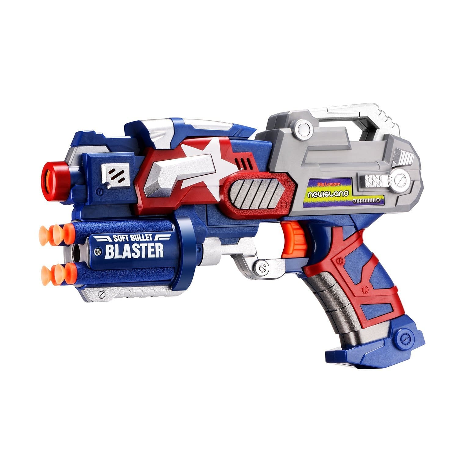 Lightning Deal Newisland Big League Blaster Gun With Foam Darts
