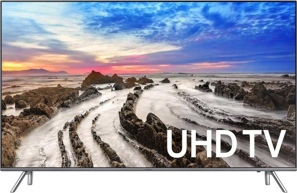 "Samsung UN65MU8000 65"" Smart LED 4K Ultra HD Flat TV with HDR New 2017 $1449 + Free shipping"