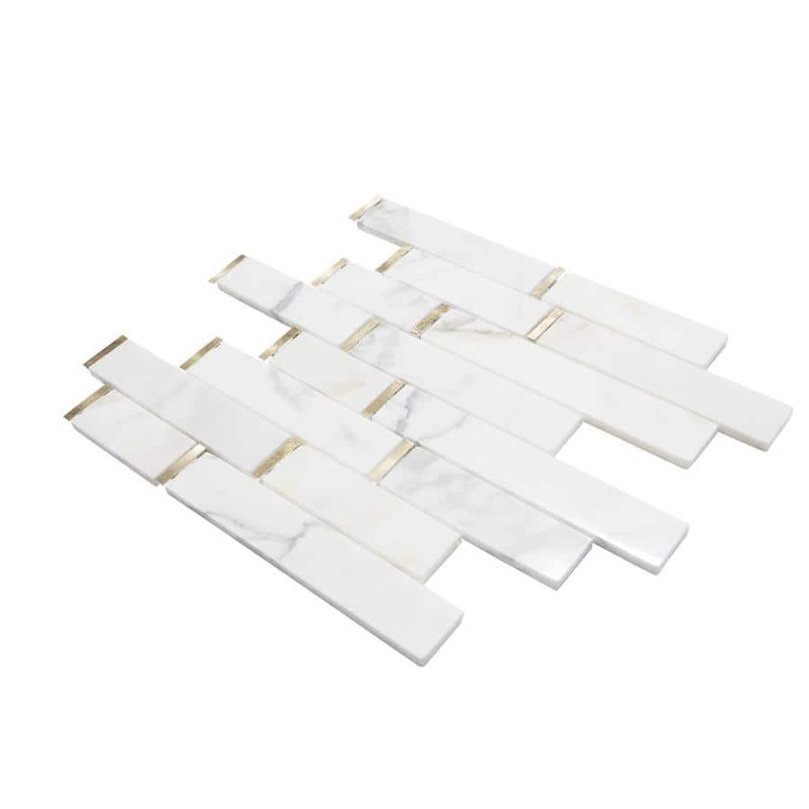 Lowes -- Calacatta Marble mosaic floor and wall tile YMMV $1.75 sq