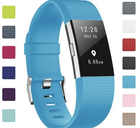 Soulen Bands Compatible with Fitbit Charge 2, Large Small, for Women