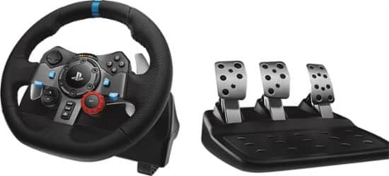 Logitech Driving Force G29 Racing Wheel for PlayStation 4 and PlayStation 3 [PC + PS4 Compatible] $277