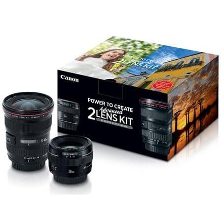Canon EF 17-40mm f/4L USM / EF 50mm f/1.4 USM, Advanced 2 Lens Kit