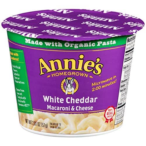 Annie's Microwavable Mac and Cheese Cup, White Cheddar 12pk - as low as $7.16 w/ coupon and SS - Amazon
