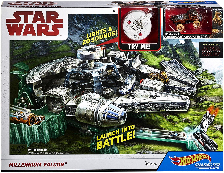 Hot Wheels Star Wars Millennium Falcon Playset with Movie Ticket - $19.97 - Amazon