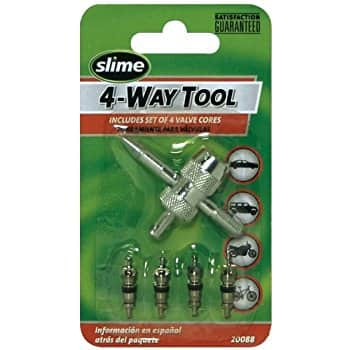Slime 20088 4-Way Valve Tool with 4 Valve Cores - $1.62 + FS w/prime