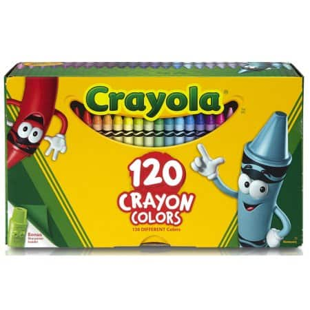 120-Count Crayola  Crayons  with Tip Crayon Sharpener for $6.99