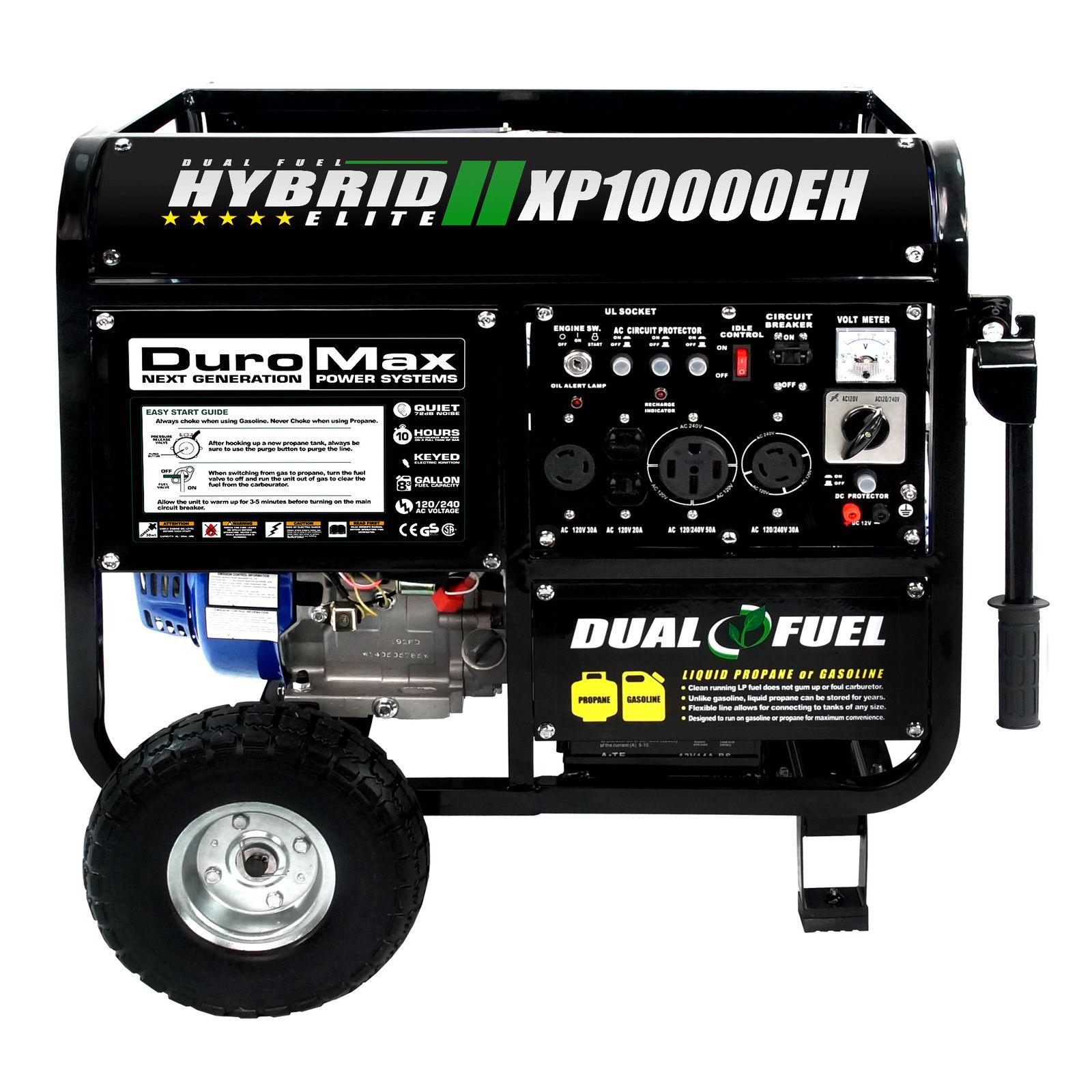 DuroMax XP10000EH Hybrid Portable Dual Fuel Propane / Gas Camping RV Generator - $599.99 + Free Shipping @ ebay.com