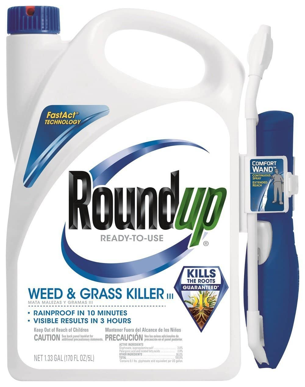Add-On Item: Roundup 5200210 Weed and Grass Killer III Ready-to-Use Comfort Wand Sprayer, 1.33-Gallon - $5.00 @ amazon.com