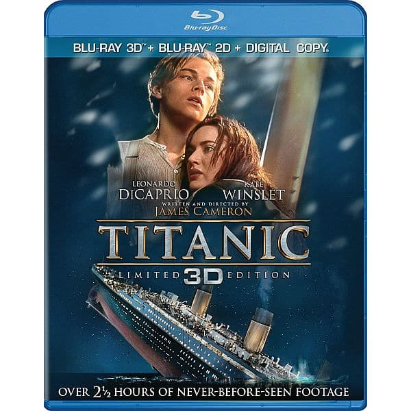 Titanic 3d Bluray combo pack $9.99