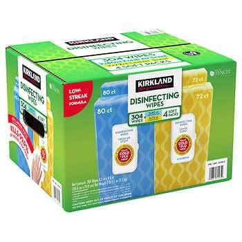 Kirkland Signature Disinfecting Wipes, Variety Pack, 304-count