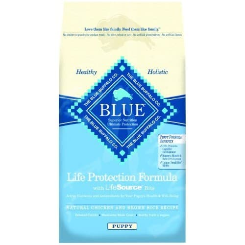 BLUE BUFFALO Life Protection Formula Dry Puppy Food [Chicken & Brown Rice Recipe, 30 lb] $39.09