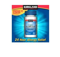 Kirkland Signature Allergy Relief: 120-Ct 180mg Aller-Fex $25.50, 365-Ct 10mg Aller-Tec $14, 365-Ct 10mg AllerClear $11 or less + Free Shipping