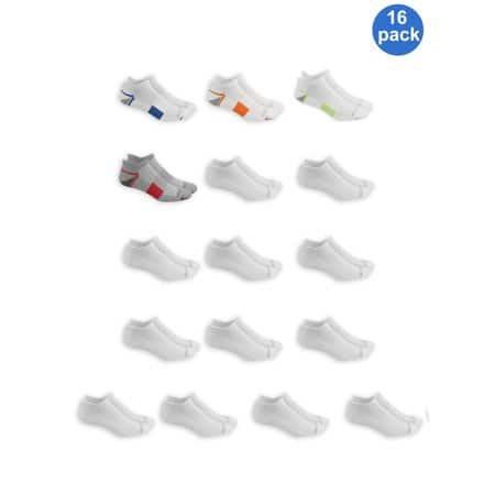 bb0964cd2 16-Pack Fruit of the Loom Men's Breathable Half Cushion Low Cut Tab ...