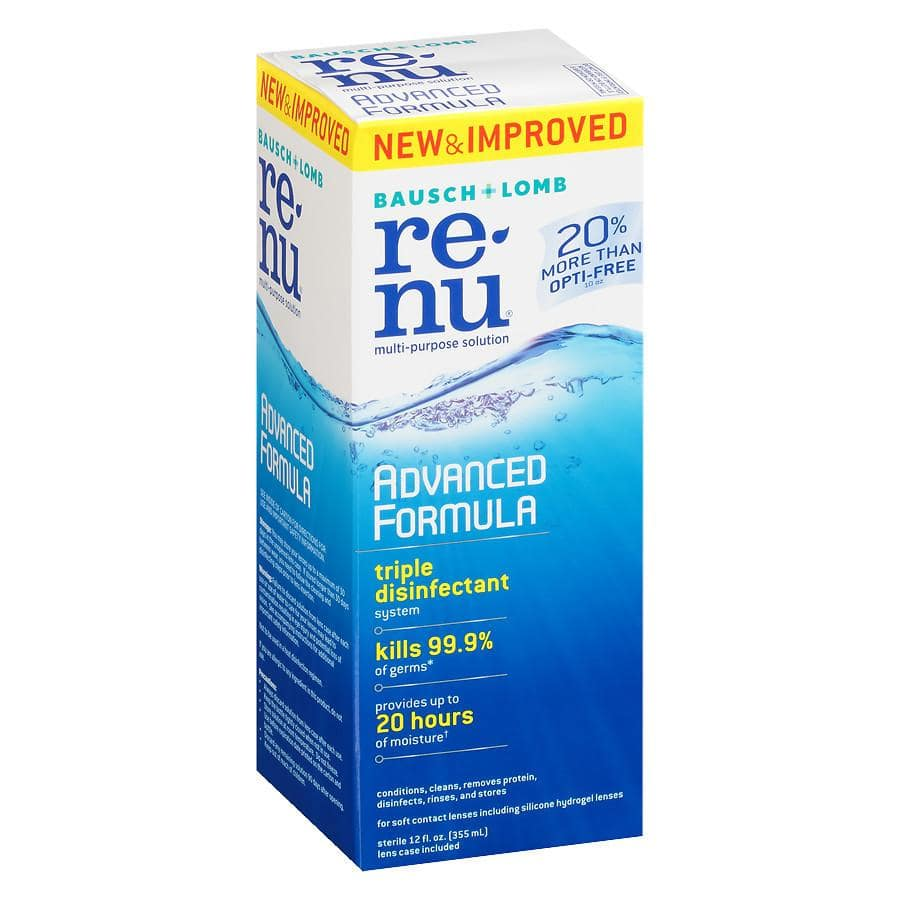 12oz Bausch + Lomb ReNu Advanced Formula Contact Lens Solution $3 + Free Store Pickup