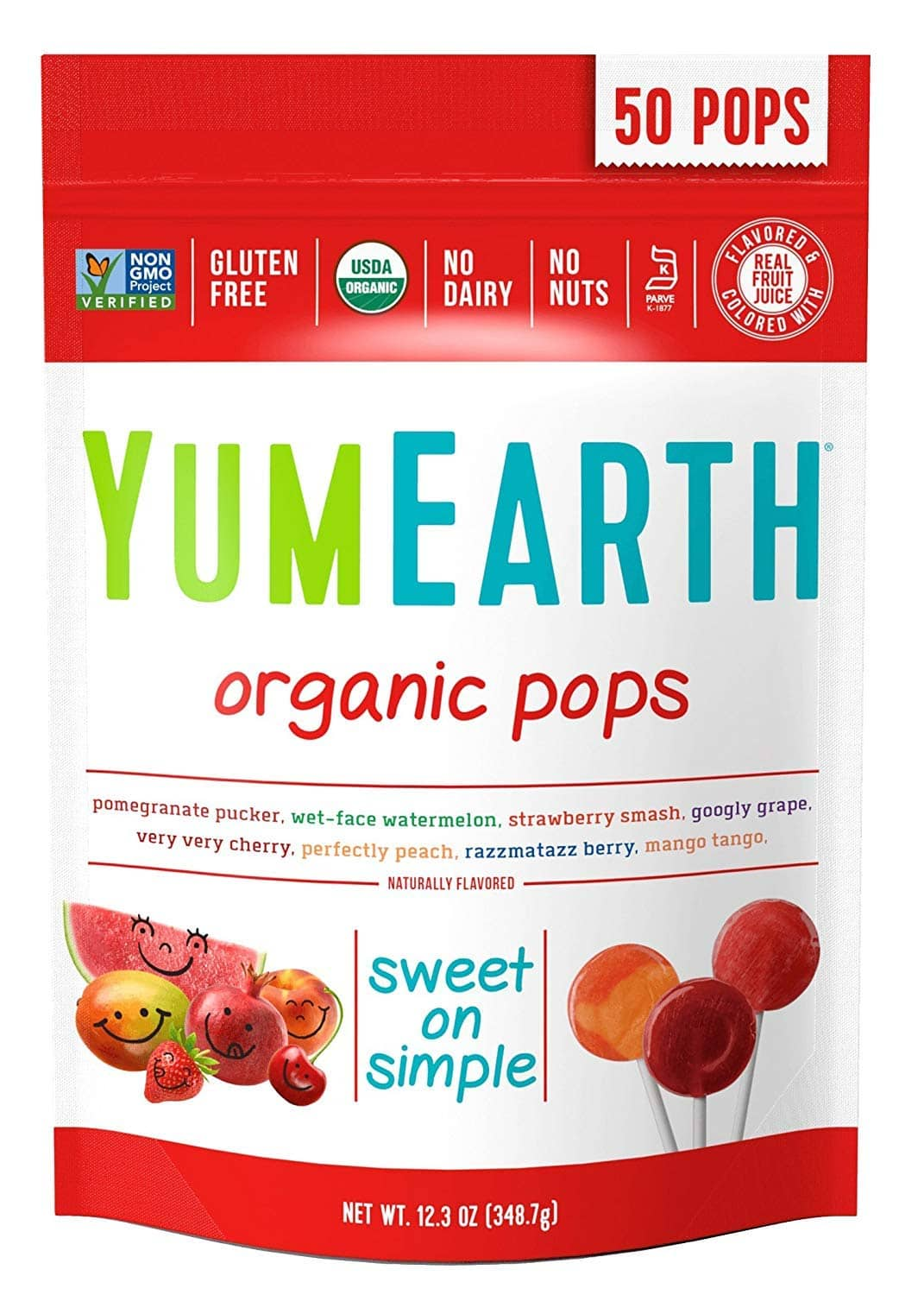 50-Count YumEarth Organic Lollipops (Assorted Flavors) $4.31 w/ 5% S&S + Free S/H