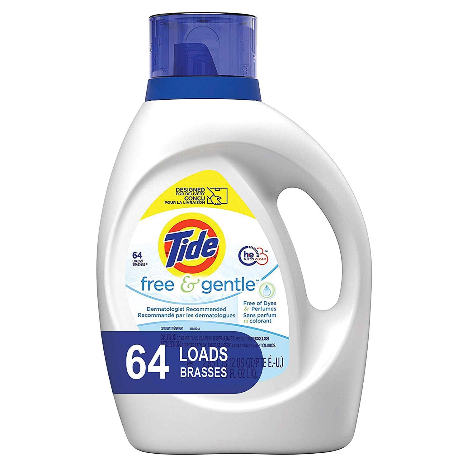 100oz Tide HE Liquid Laundry Detergent (Free & Gentle or Original) 3 for $26 & More + Free S&H