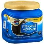 30.6oz Maxwell House Master Blend Ground Coffee $3.99 w/free store pick up