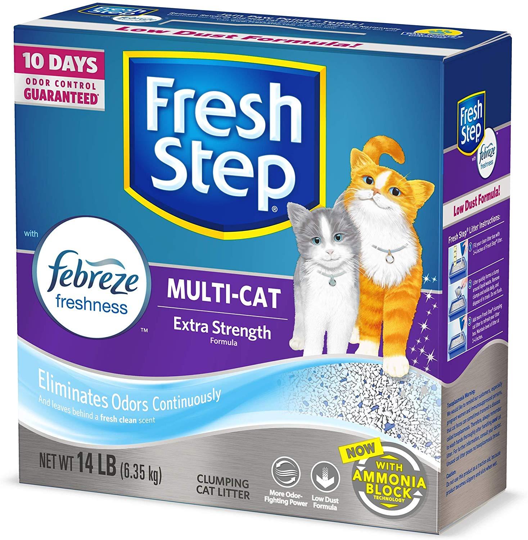 14-lb Fresh Step Multi-Cat Clumping Cat Litter w/ Febreze