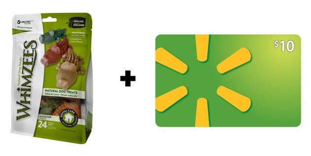 WHIMZEES Natural Grain Free Dental Dog Treats (Various Choices) + $10 Walmart Gift Card from $14.95