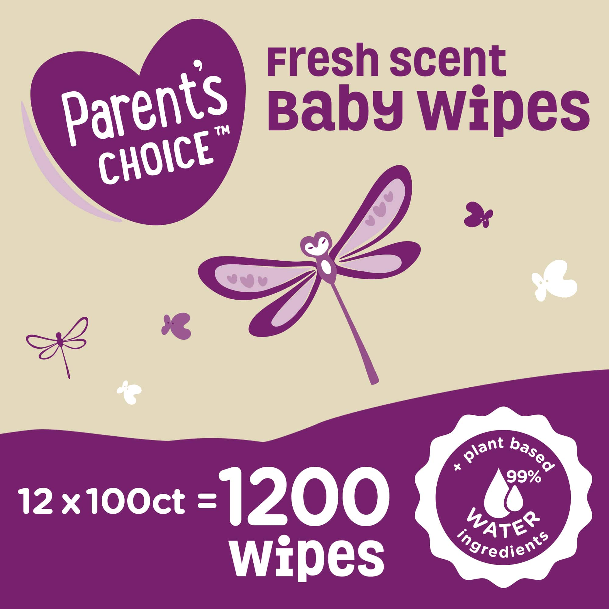 1,200-Ct Parent's Choice Baby Wipes,(various) $18.48 F/S at $35