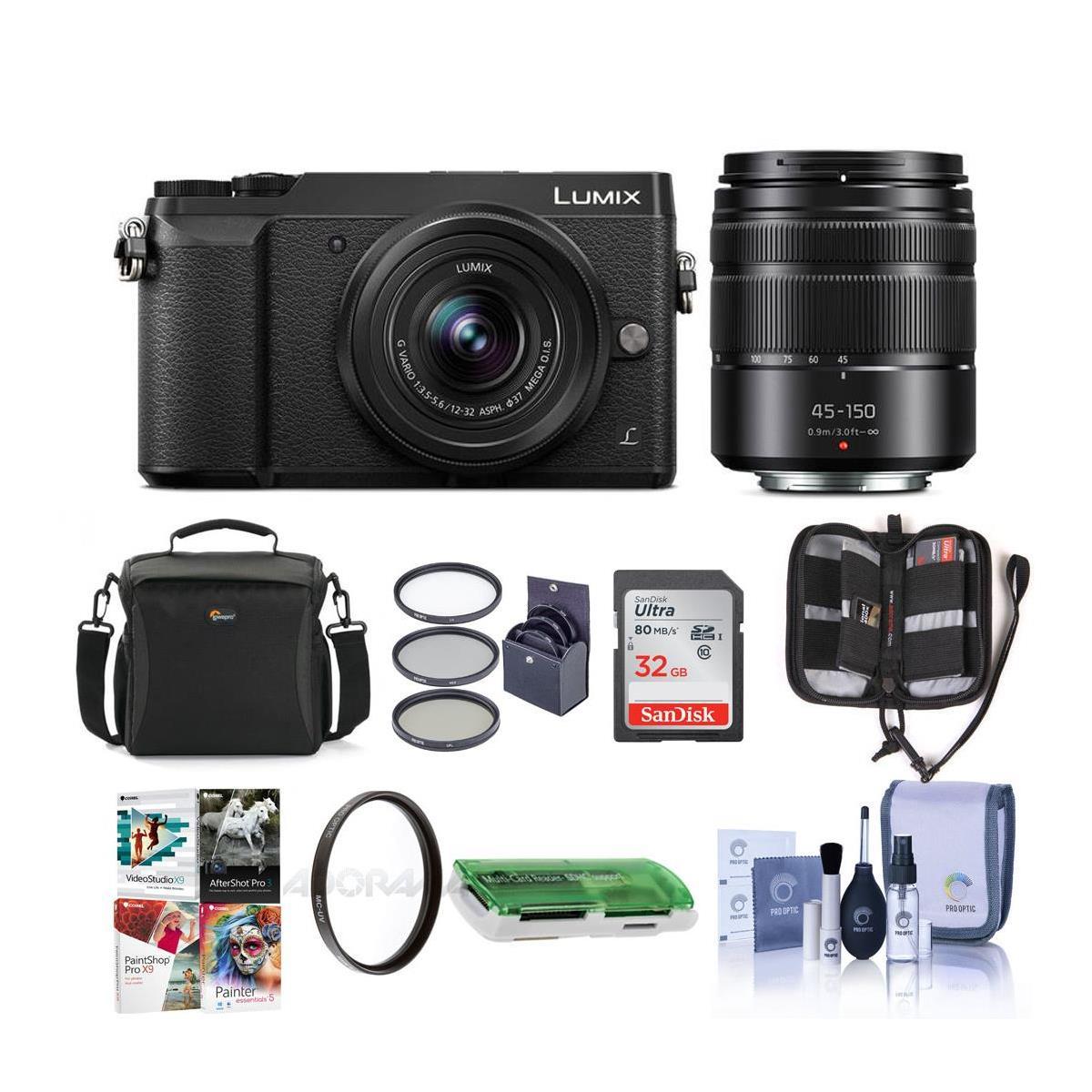 Panasonic LUMIX GX85 4K Mirrorless Camera Kit w/ 12-32mm + 45-150mm Lenses $437.99