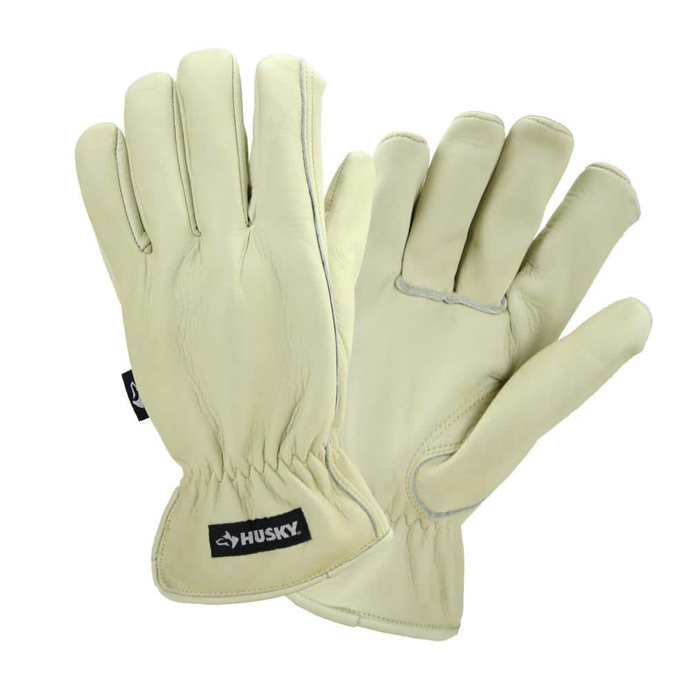 Husky Water Resistant Leather Work Glove (M, L, XL) - $10 Home Depot