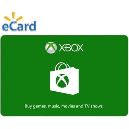 10% off Xbox Live E-Gift Cards at Walmart