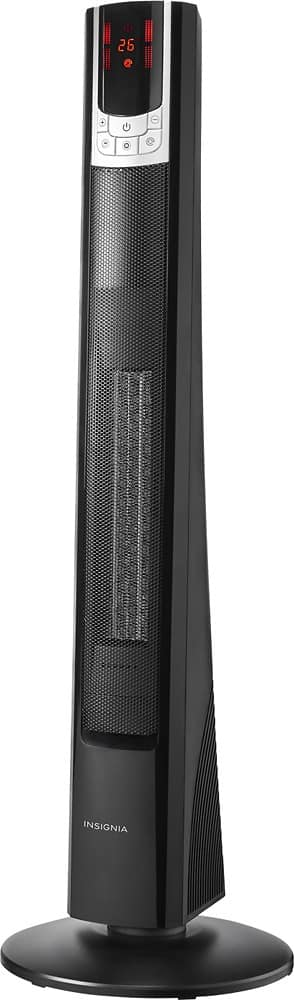 Insignia - Ceramic Tower Heater - Black $49.99 + Tax