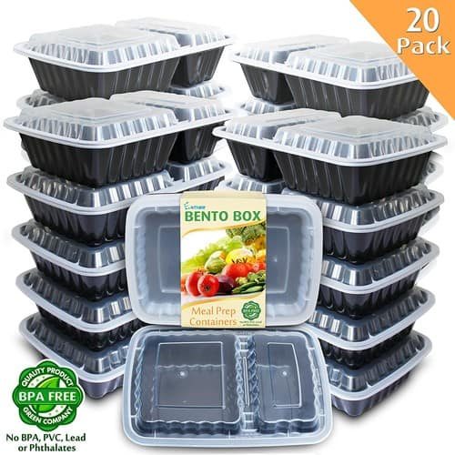 Enther Meal Prep Containers [20 Pack] 2 Compartment with Lids $ 16.99 @Amazon $16.99